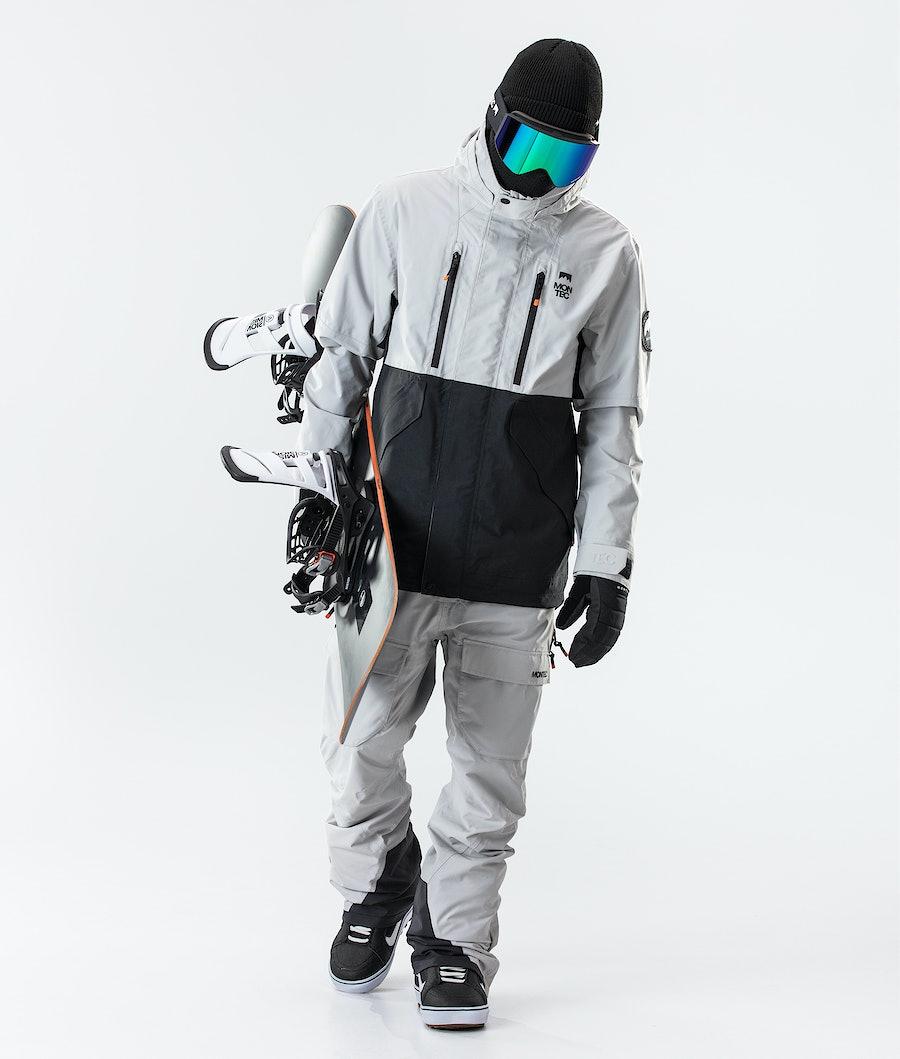 Montec Roc Snowboard Jacket Light Grey/Black