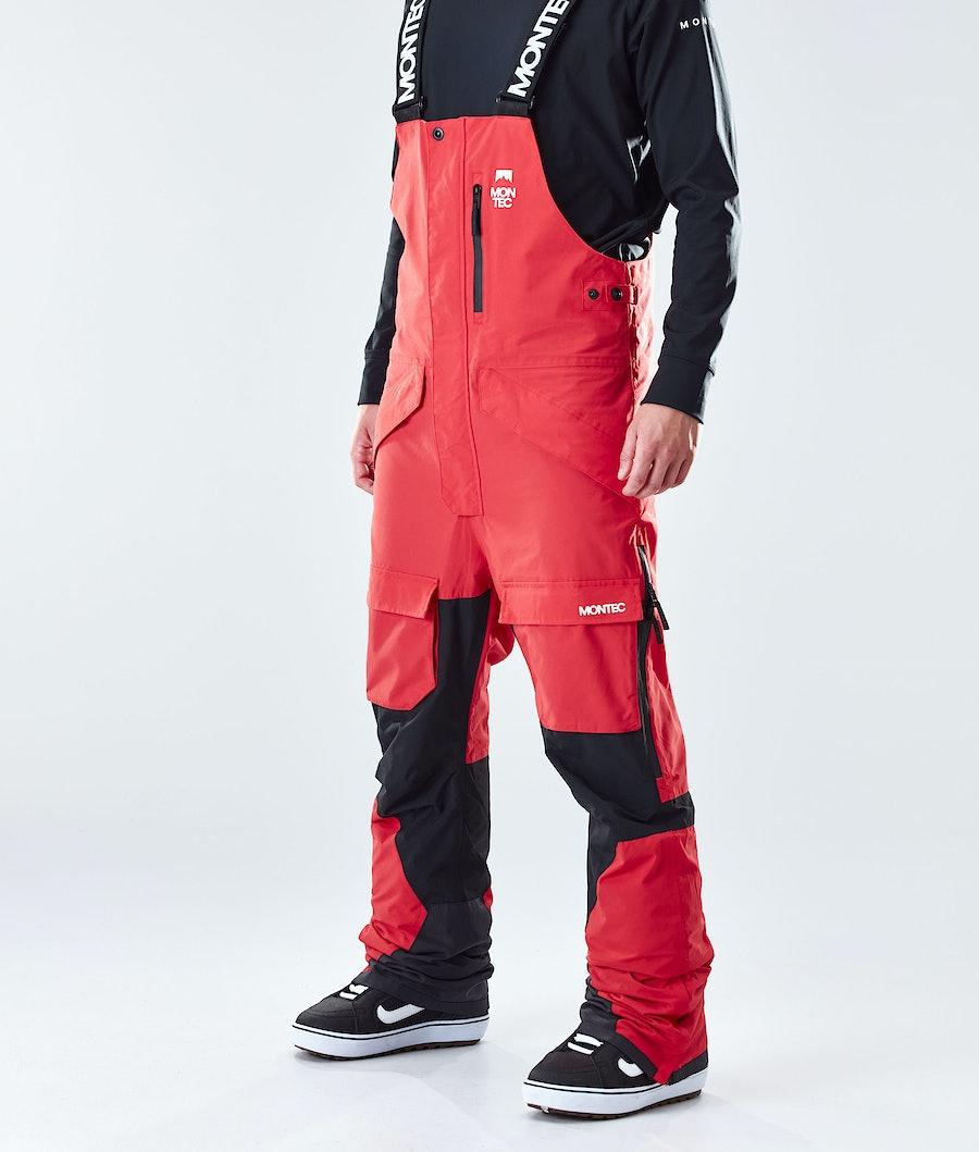 Montec Fawk Pantaloni Snowboard Red/Black