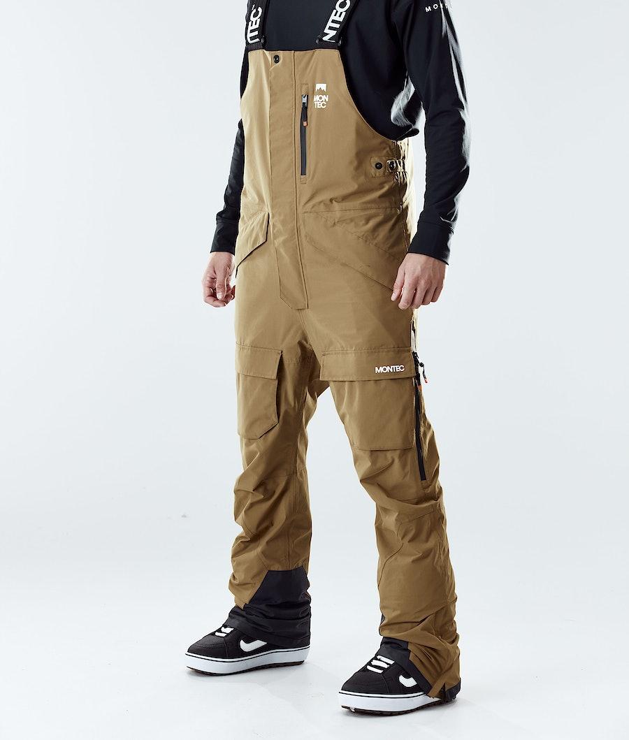 Montec Fawk Pantaloni Snowboard Gold