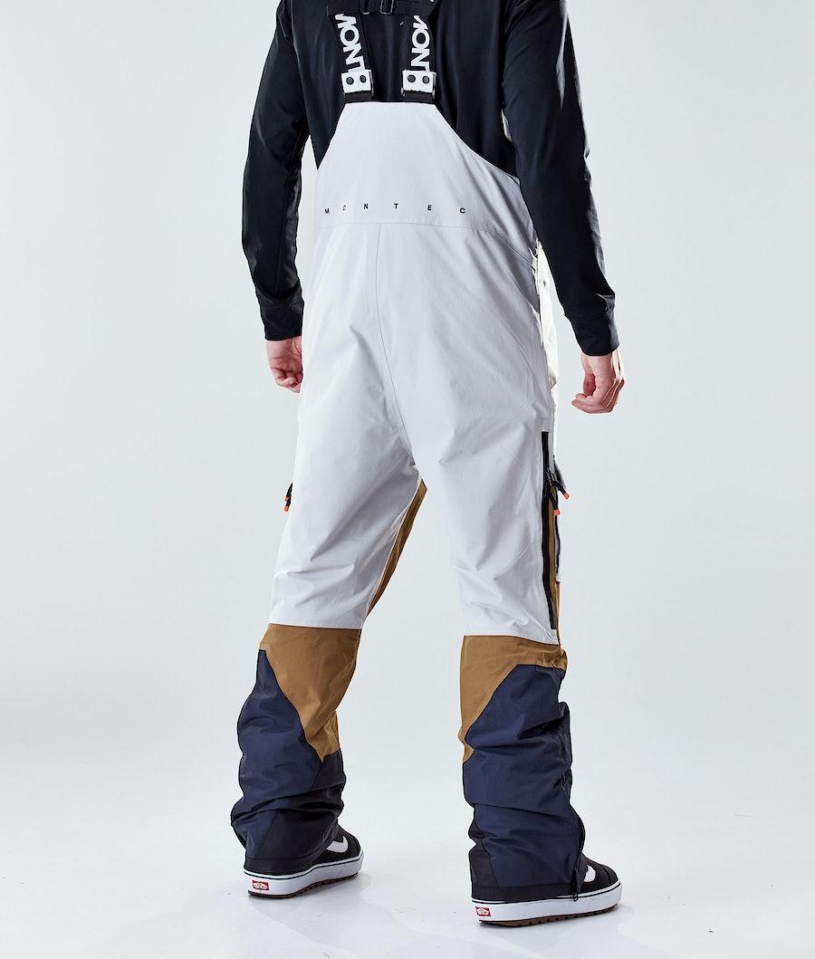 Montec Fawk 2020 Snowboard Pants Light Grey/Gold/Marine