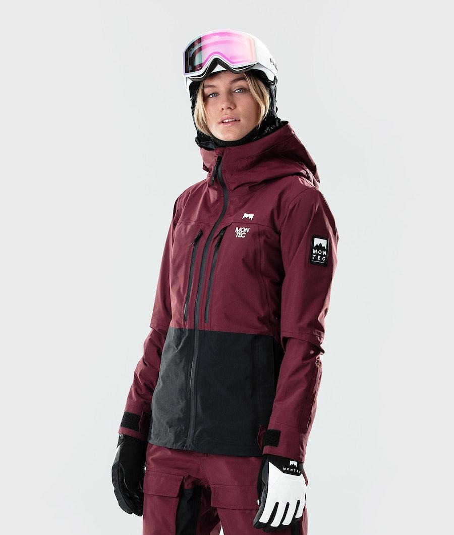Moss Ski Jacket Women Burgundy/Black