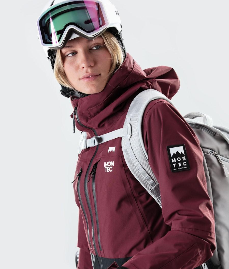 Montec Moss Women's Ski Jacket Burgundy/Black