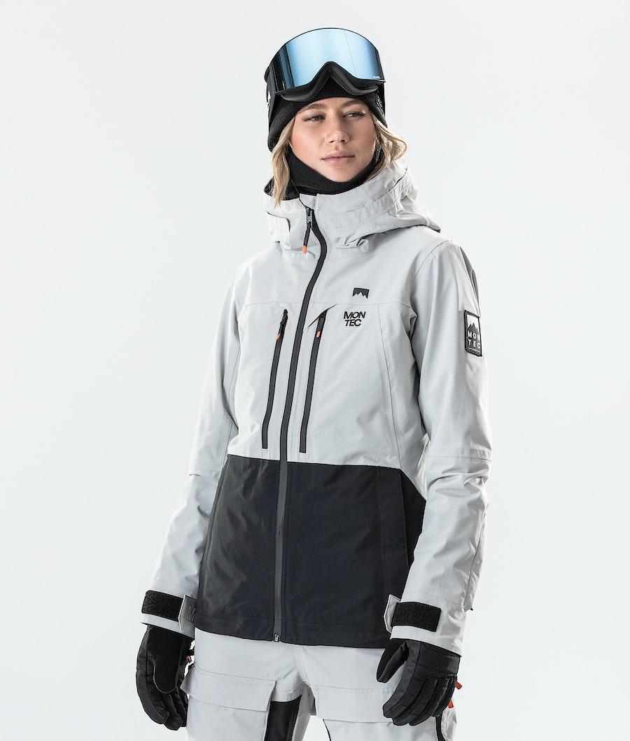 Moss Ski Jacket Women Light Grey/Black
