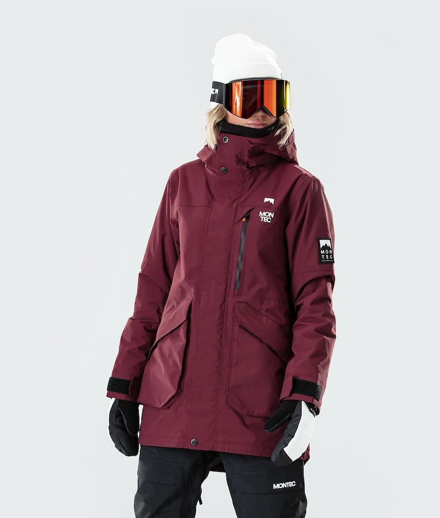 Virago W Ski Jacket Women Burgundy