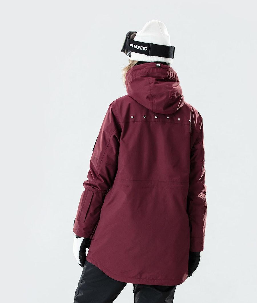 Montec Virago W Women's Snowboard Jacket Burgundy