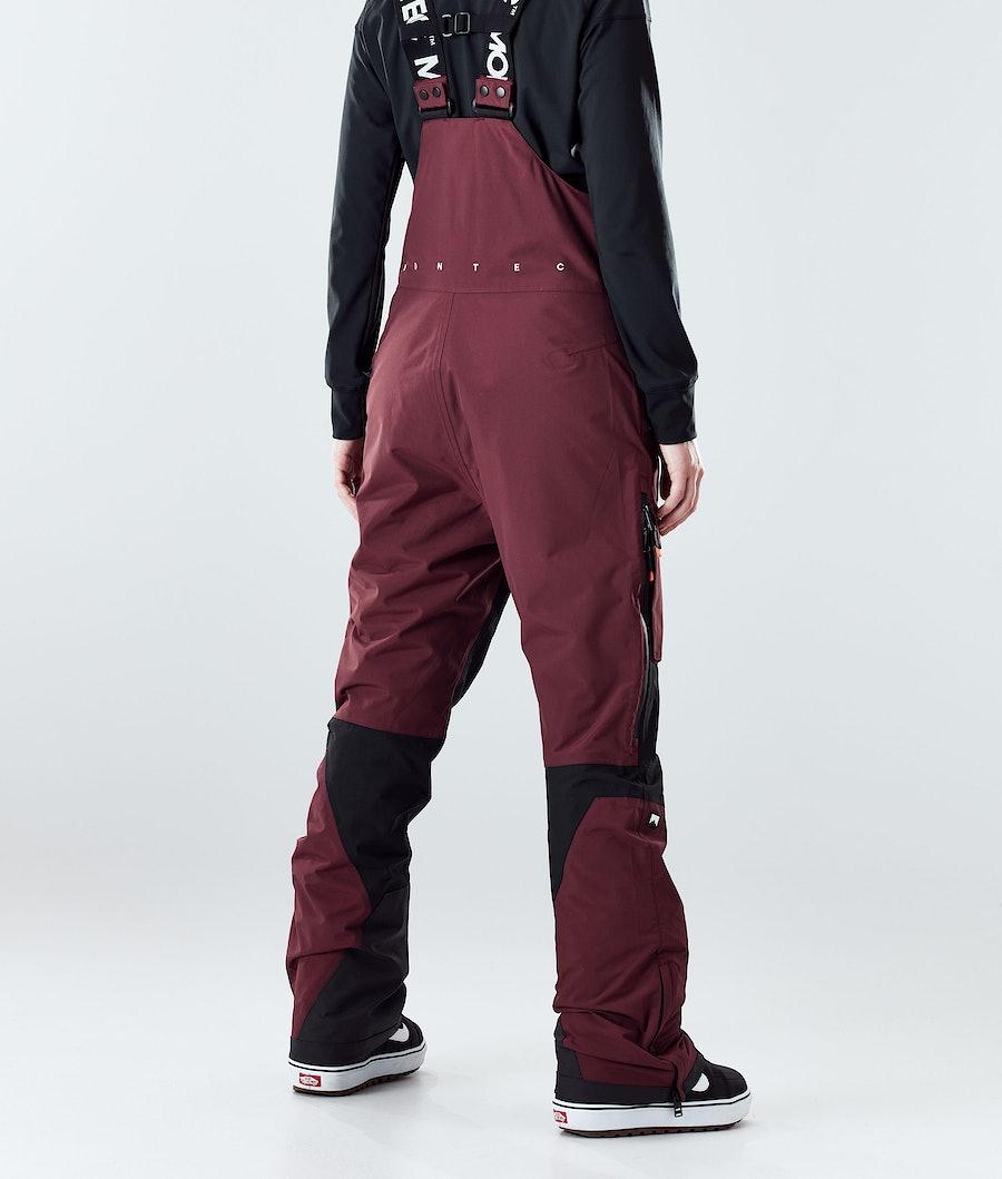 Montec Fawk W Women's Snowboard Pants Burgundy/Black
