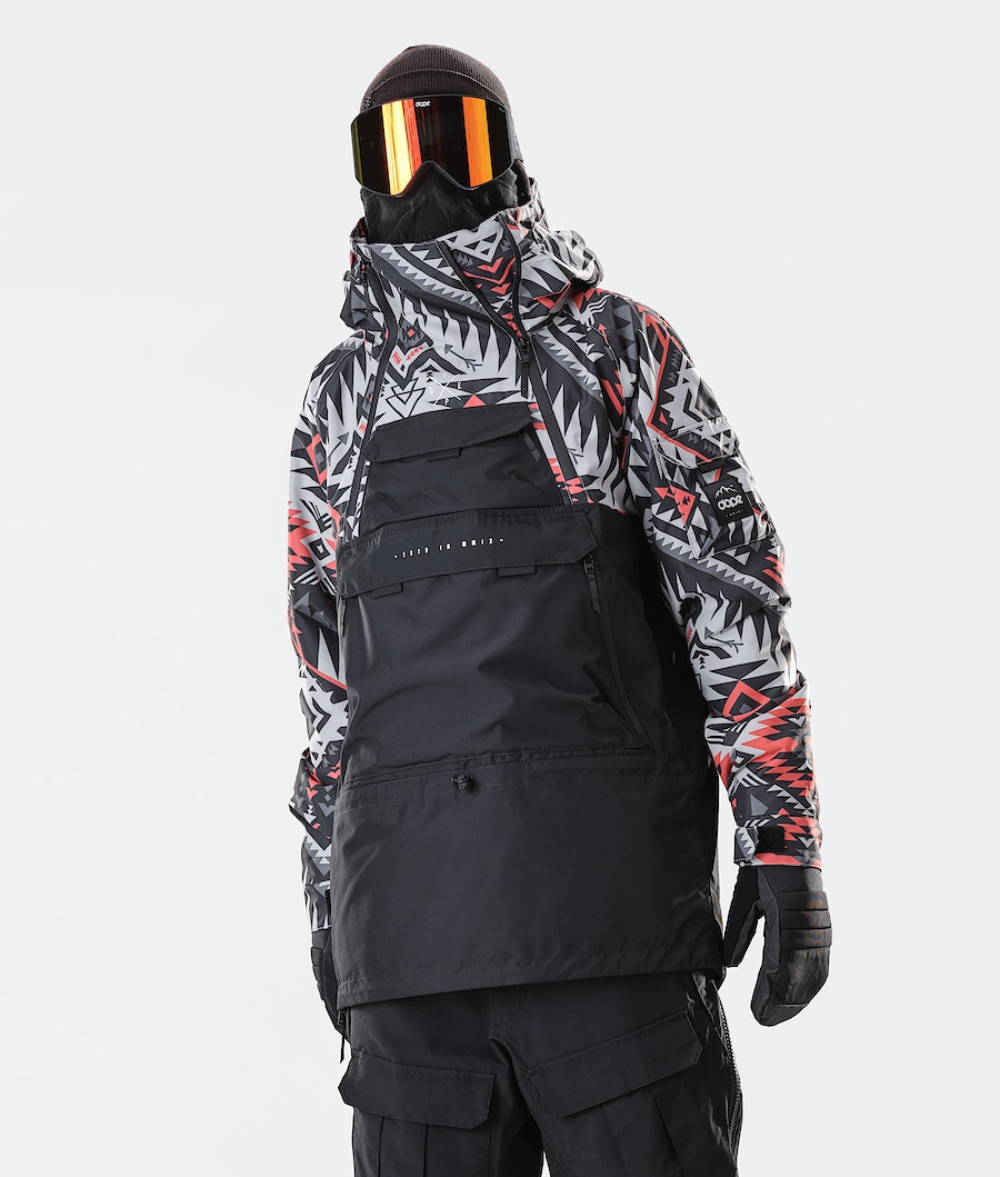 Akin Snowboard Jacket Men Arrow Red/Black