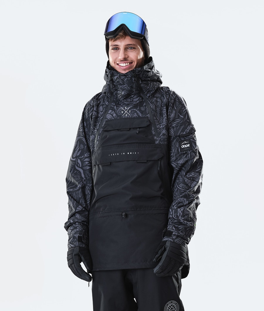 Akin Snowboard Jacket Men Shallowtree/Black