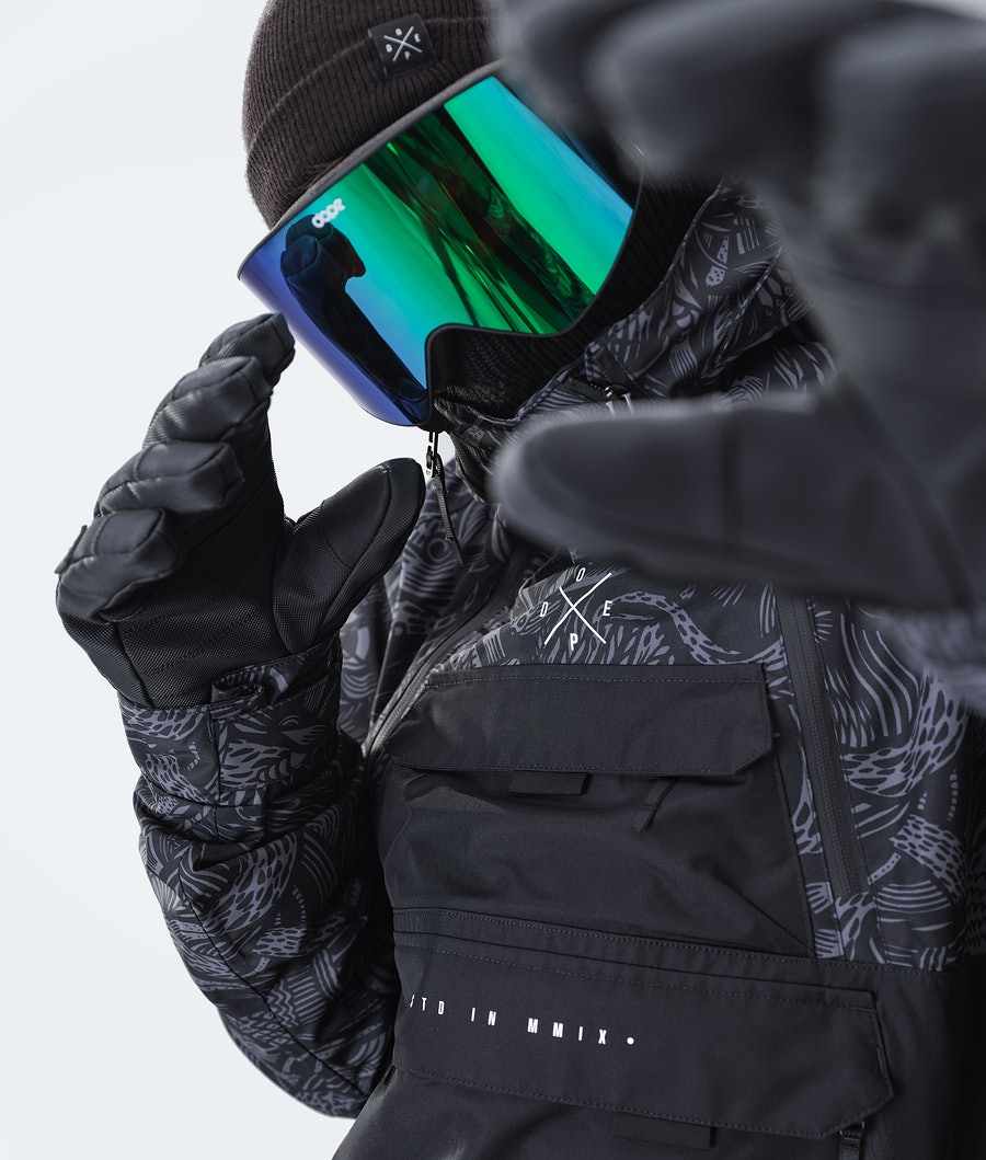 Dope Akin Ski Jacket Shallowtree/Black
