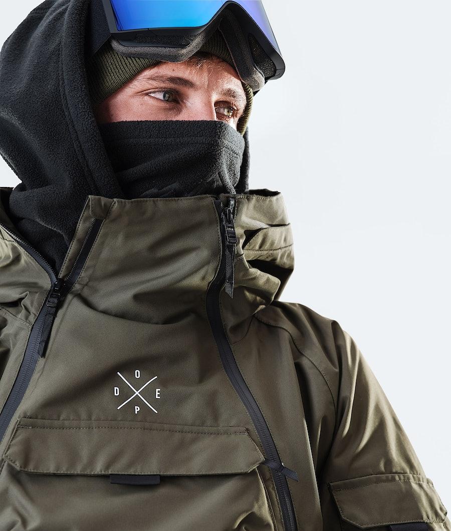 Dope Akin Snowboard Jacket Olive Green