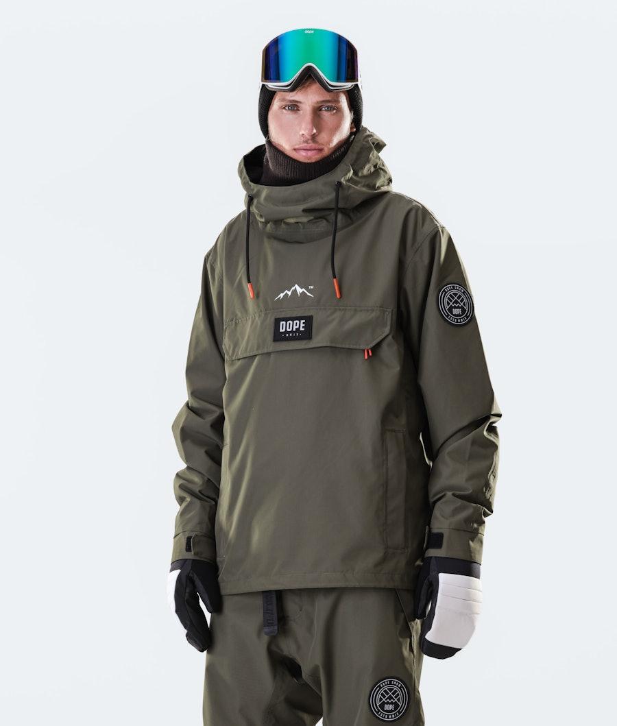 Dope Blizzard PO 2020 Ski Jacket Olive Green