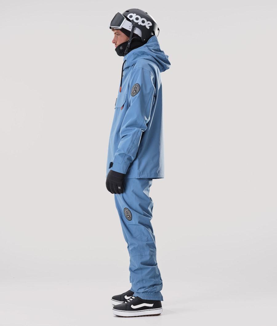 Dope Blizzard PO Snowboardjacka Blue Steel
