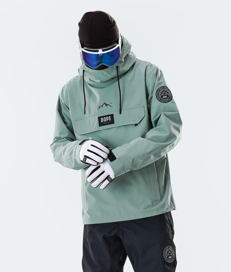 Dope Blizzard PO Snowboard Jacket Faded Green