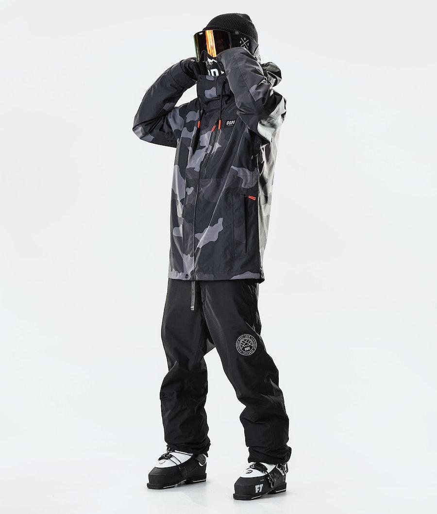 Dope Blizzard FZ 2020 Ski Jacket Black Camo