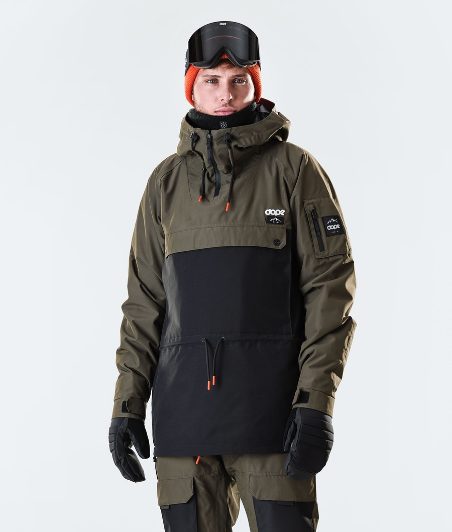 Annok Snowboard Jacket Men Olive Green/Black