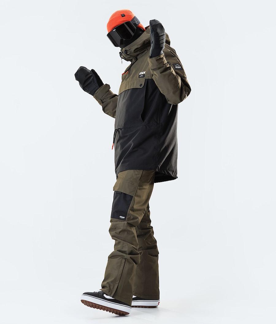 Dope Annok Snowboard Jacket Olive Green/Black