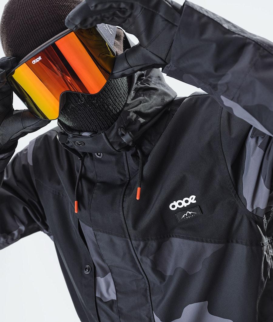 Dope Adept Snowboard Jacket Black/Black Camo