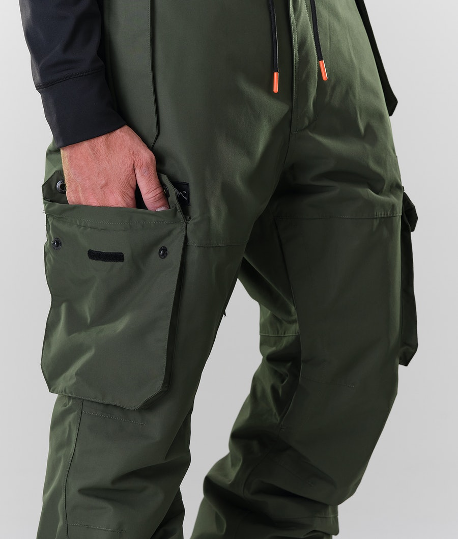 Dope Iconic Snowboard Pants Olive Green
