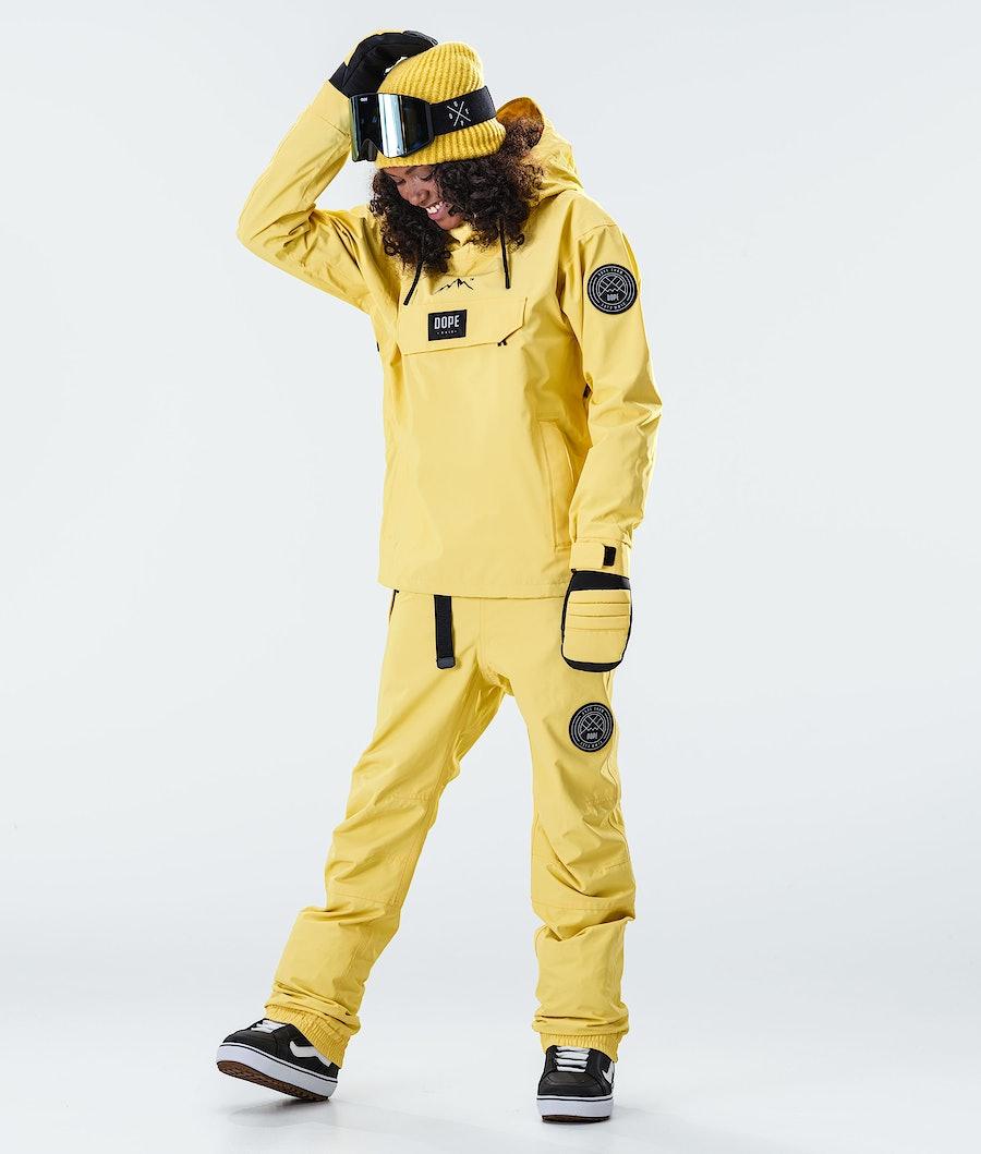 Dope Blizzard PO W Women's Snowboard Jacket Faded Yellow