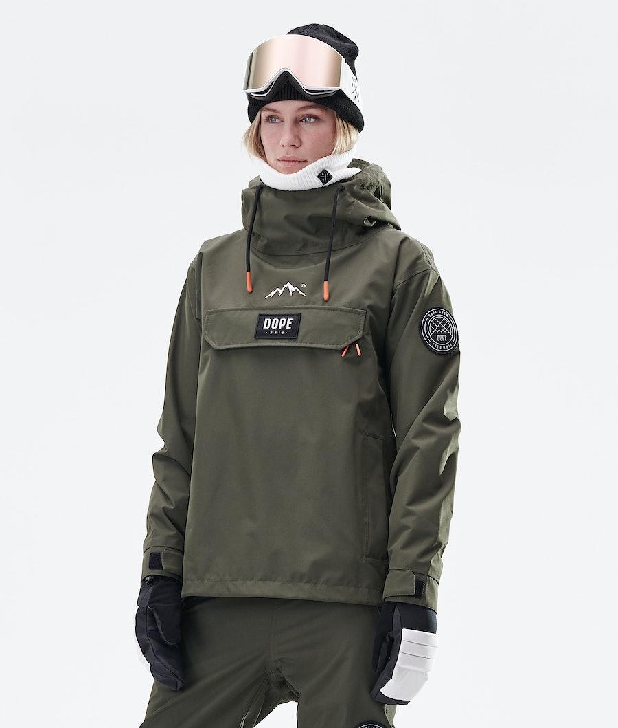 Blizzard PO W Snowboard Jacket Women Olive Green