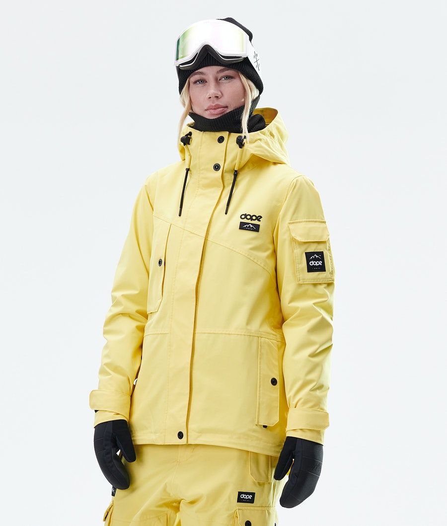 Adept W Snowboard Jacket Women Faded Yellow