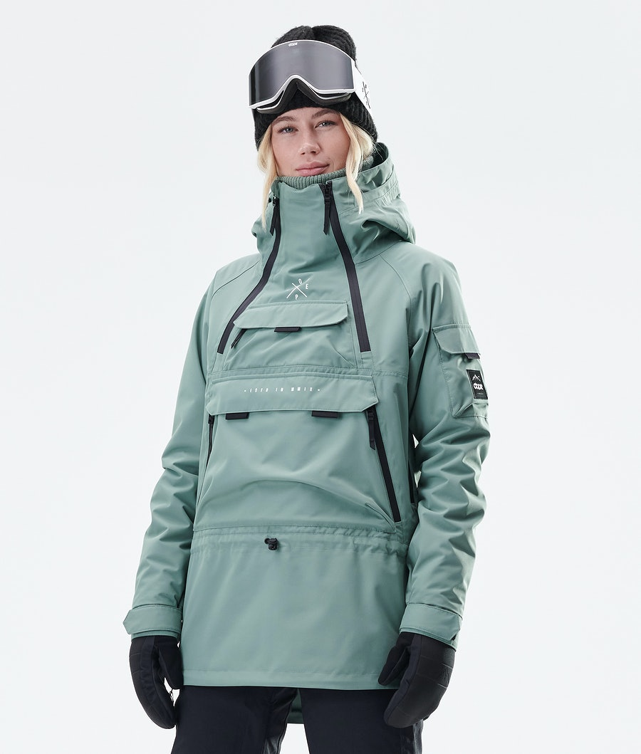 Akin W Snowboard Jacket Women Faded Green