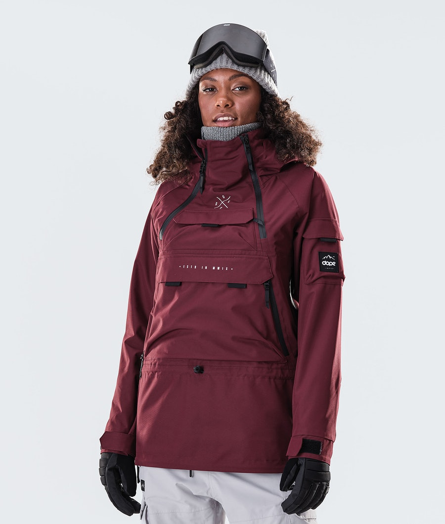 Akin W Snowboard Jacket Women Burgundy