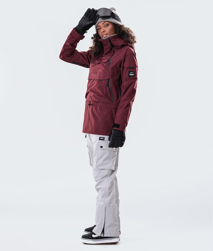 Dope Akin W Women's Snowboard Jacket Burgundy