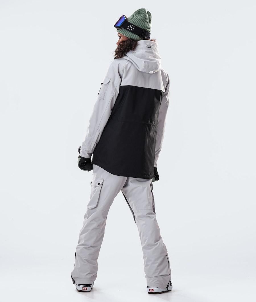 Dope Akin W Women's Snowboard Jacket Light Grey/Faded Green/Black