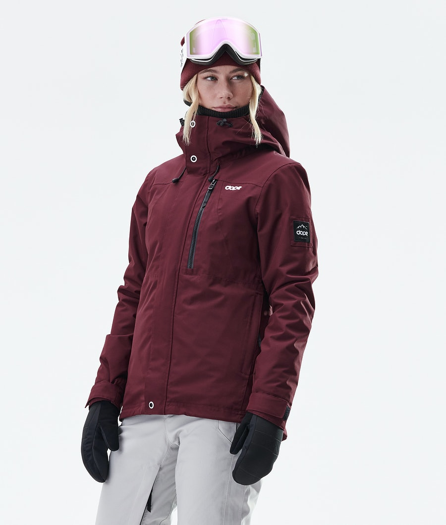 Divine Snowboard Jacket Women Burgundy
