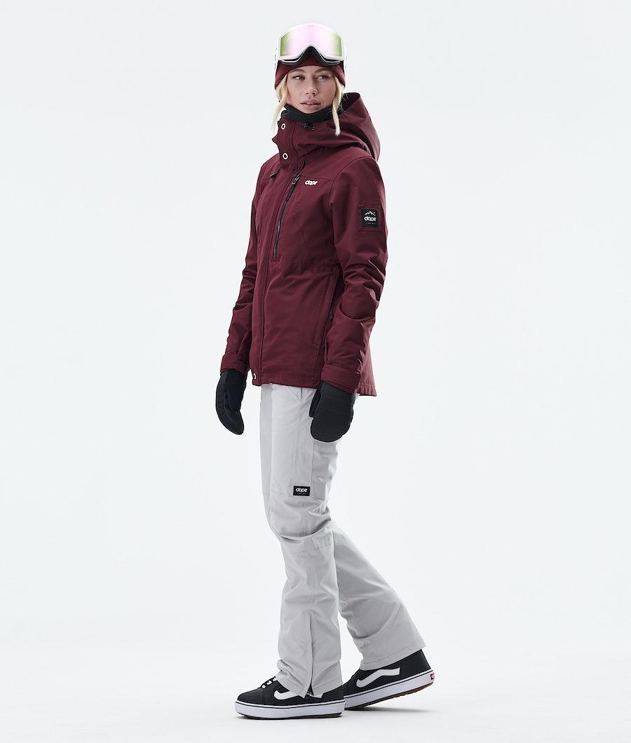 Dope Divine Women's Snowboard Jacket Burgundy