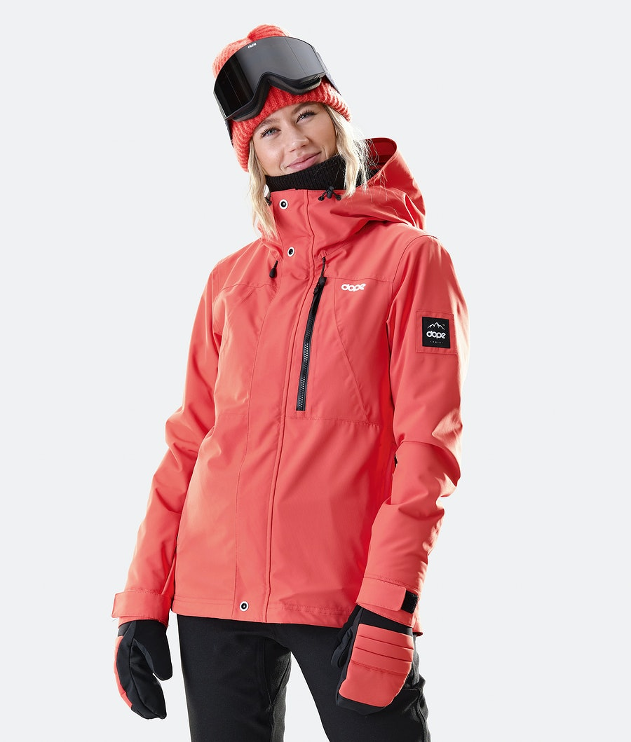 Divine Snowboard Jacket Women Coral