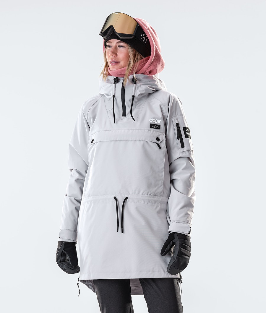 Annok Long Snowboard Jacket Women Light Grey