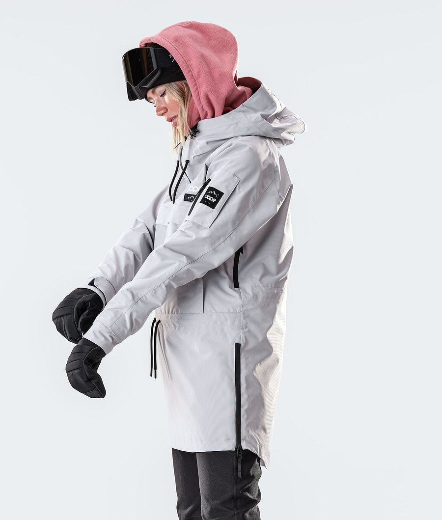 Dope Annok Long Women's Snowboard Jacket Light Grey
