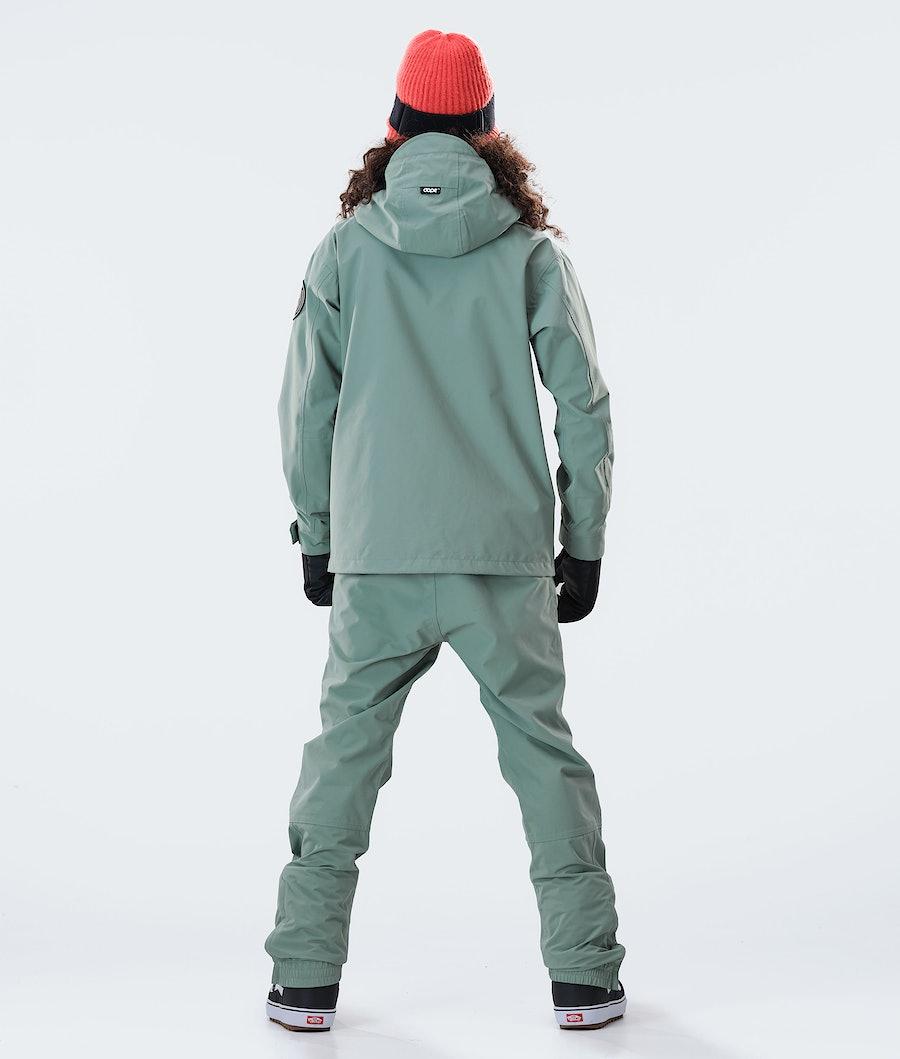 Dope Blizzard FZ W 2020 Snowboardjacke Damen Faded Green