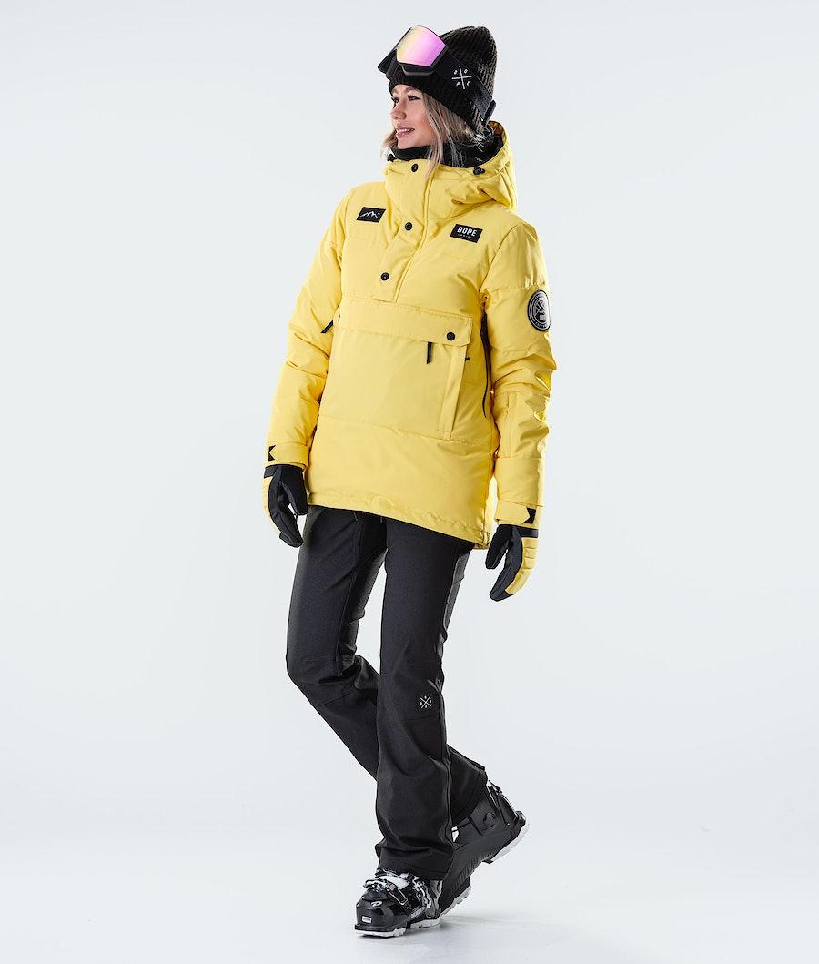 Dope Puffer W Ski jas Dames Faded Yellow