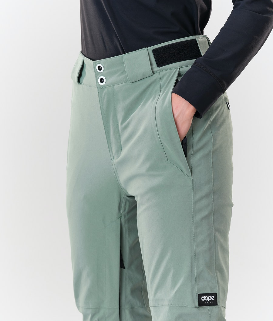 Dope Con Women's Snowboard Pants Faded Green