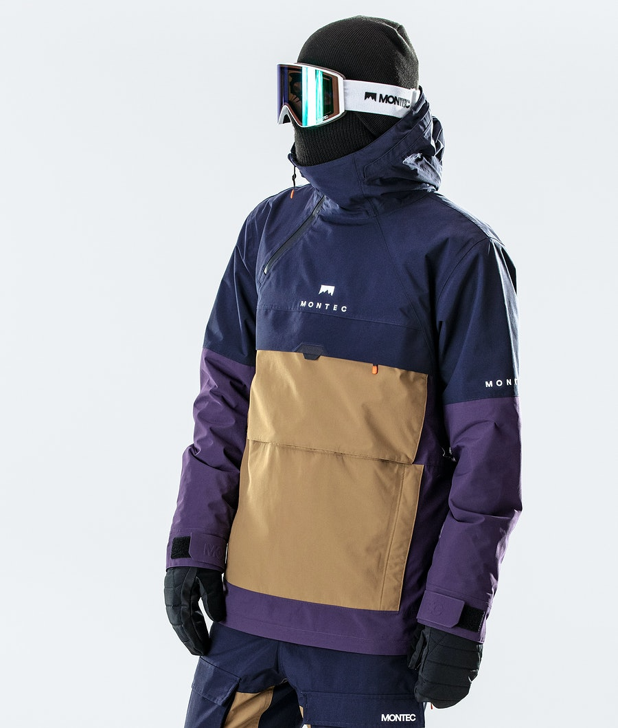 Dune Ski Jacket Men Marine/Gold/Purple
