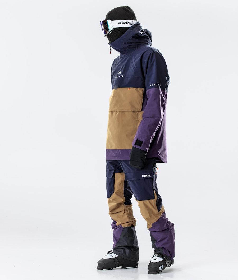 Montec Dune Ski Jacket Marine/Gold/Purple
