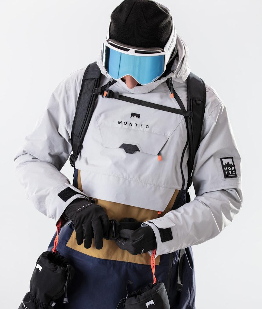 Montec Doom Snowboardjacka Light Grey/Gold/Marine