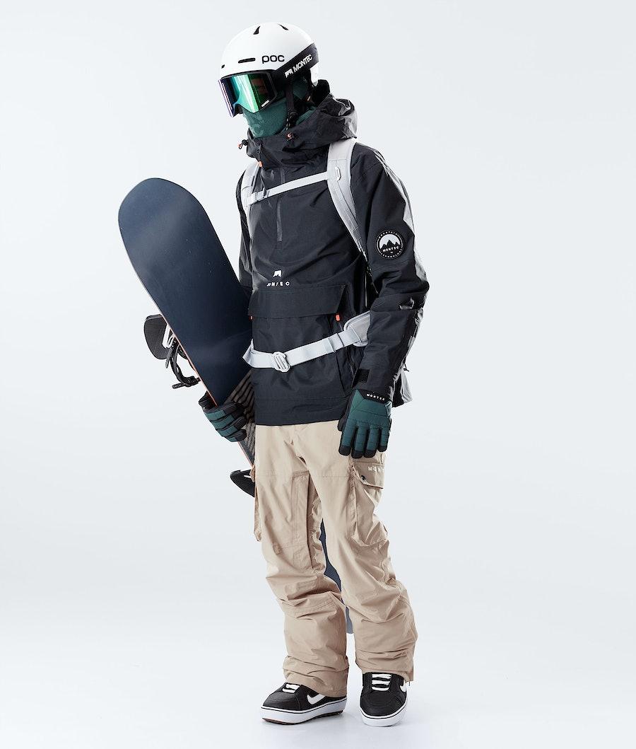 Montec Typhoon Snowboard Jacket Black