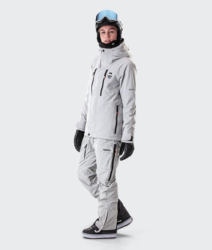 Montec Fawk W Women's Ski Jacket Light Grey