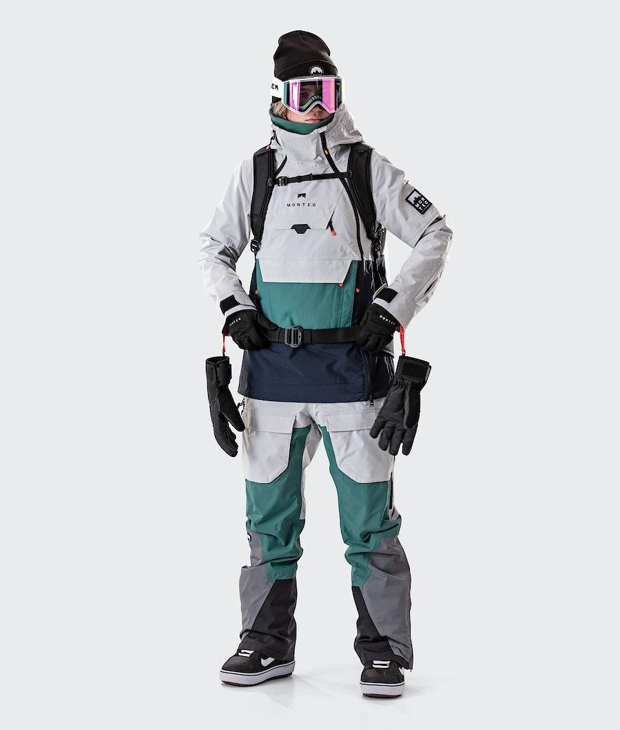 Montec Doom W Women's Snowboard Jacket Light Grey/Atlantic/Marine
