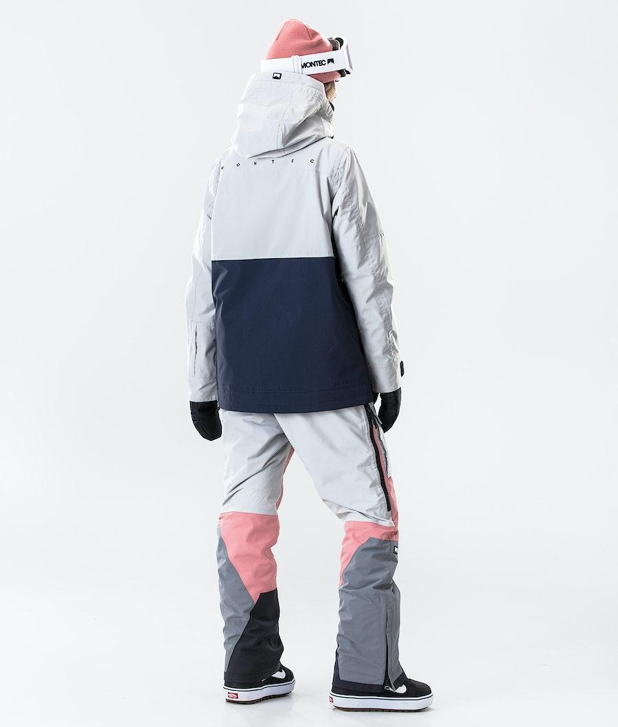 Montec Doom W Women's Ski Jacket Light Grey/Pink/Marine