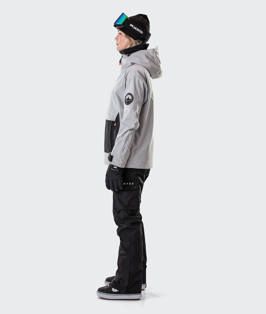 Montec Typhoon W Women's Snowboard Jacket Light Grey/Black