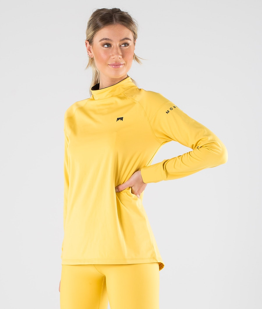 Zulu W Base Layer Top Women Yellow