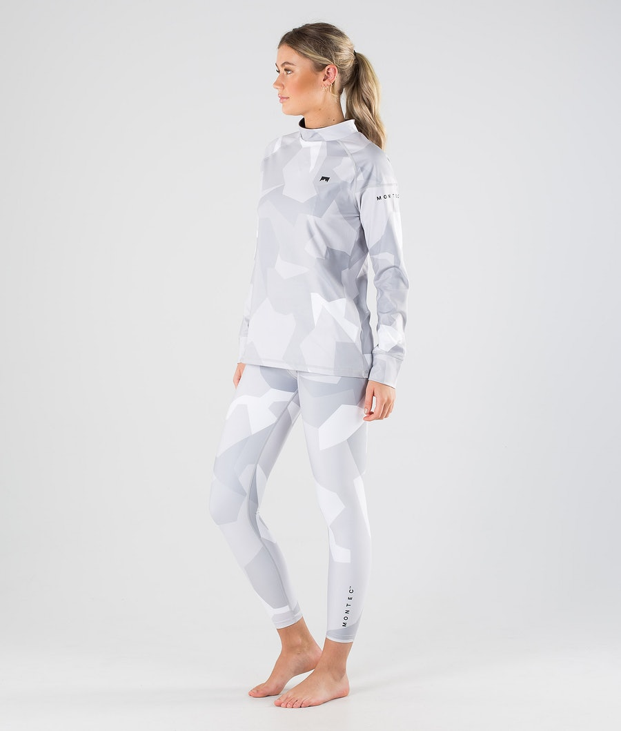 Montec Zulu W Women's Base Layer Top Snow Camo