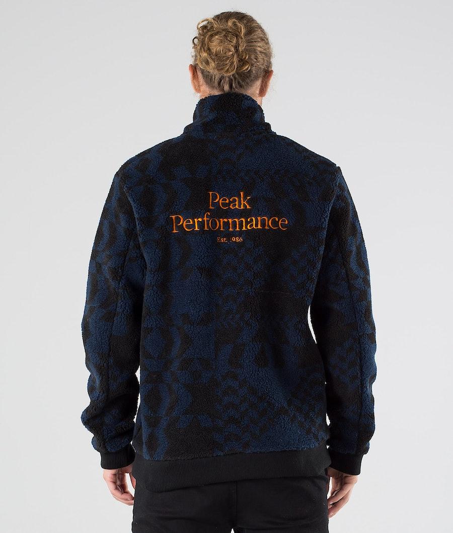 Peak Performance Original Pile Zip Felpa Pattern