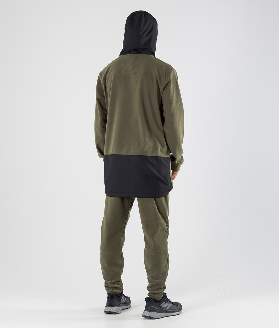Dope Loyd PO Fleece Hoodie Black/Olive Green