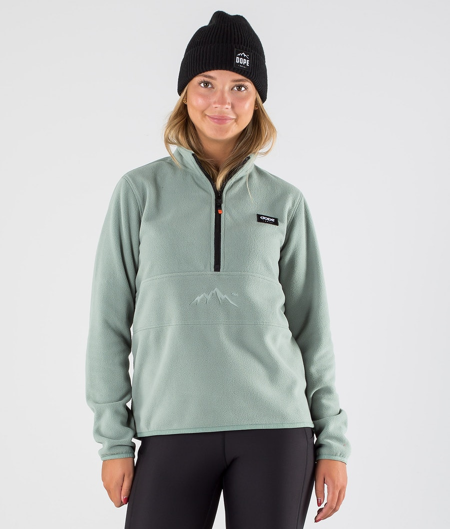 Loyd W Fleece Sweater Women Faded Green